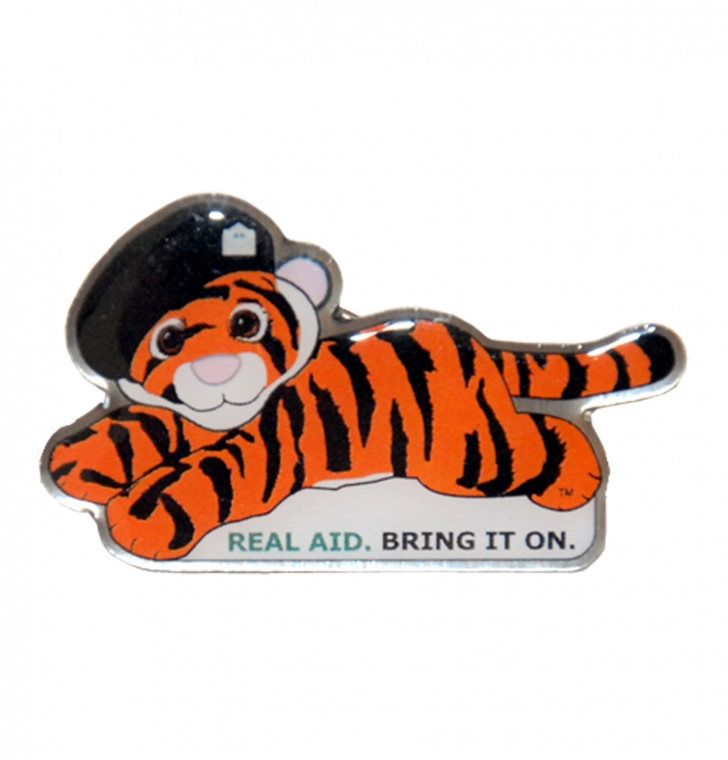 Tiger Tim Lapel Pin Badge