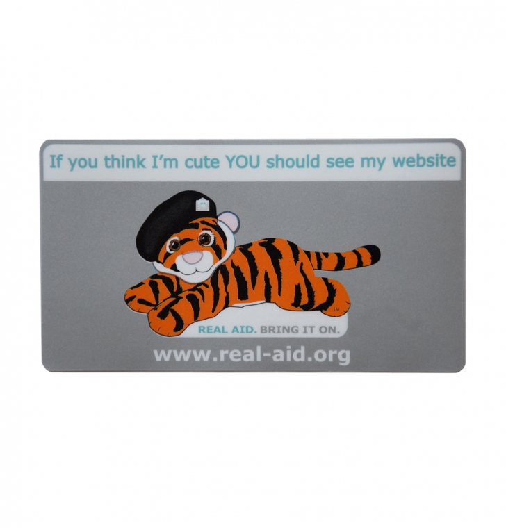 Tiger Tim Metallic Car Sticker